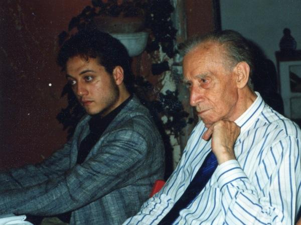 Con Mario Luzi 1992