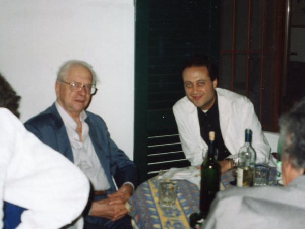 Con Alessandro Parronchi 2000
