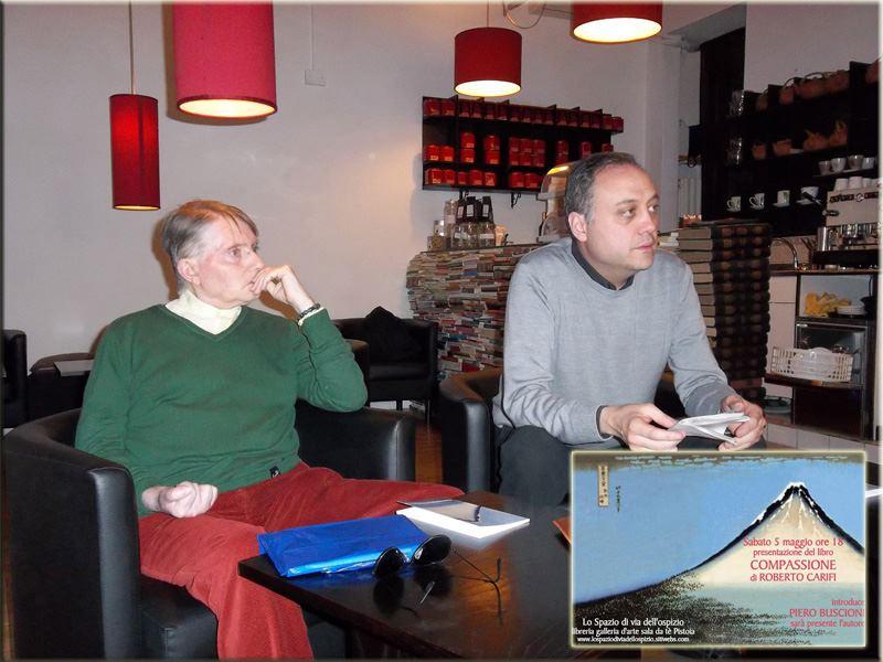 Con Roberto Carifi a Lo Spazio marzo 2012